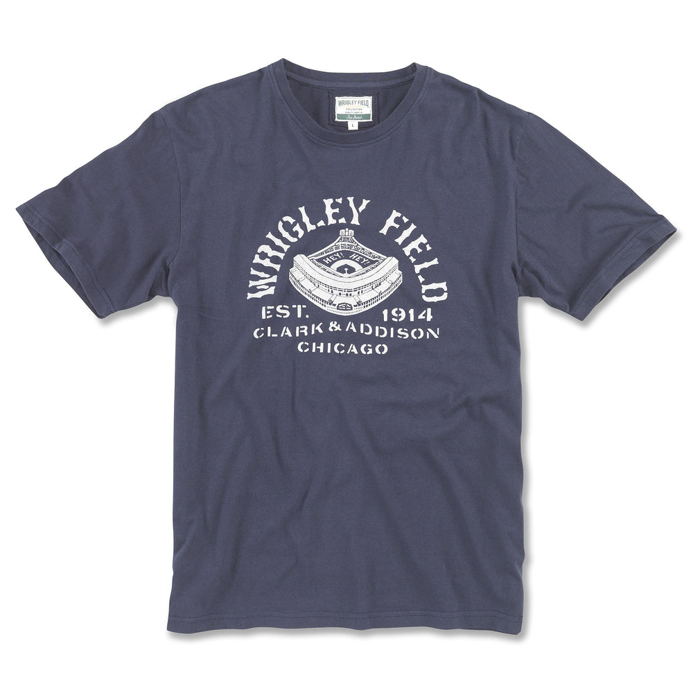 RETRO BLUEPRINT WRIGLEY FIELD TEE