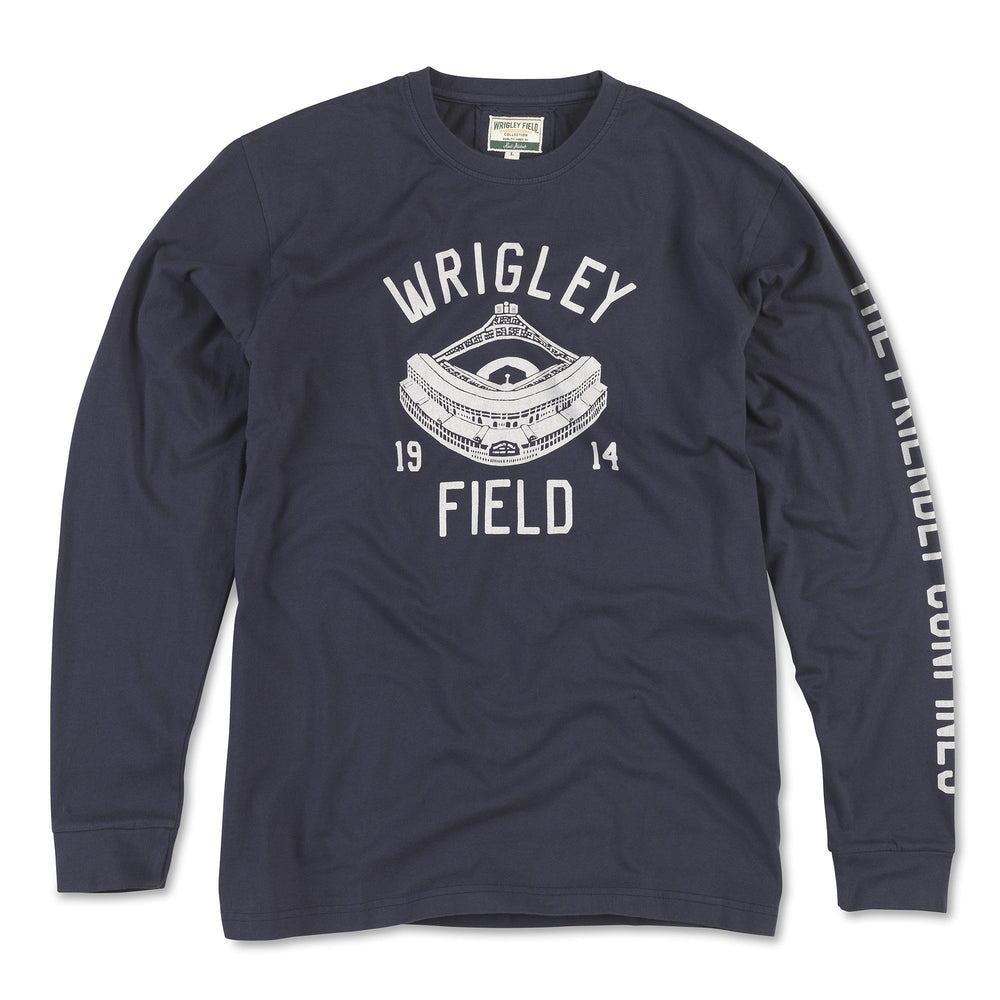MAVERICK RETRO WRIGLEY FIELD LONG SLEEVE TEE
