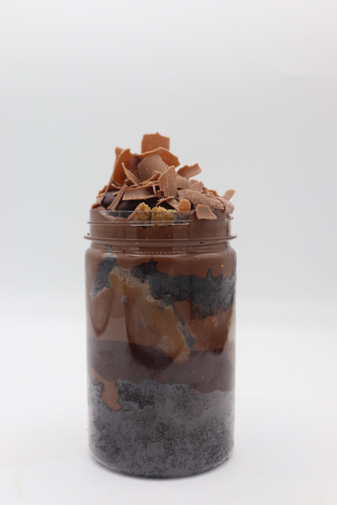 VEGAN Chocolate Biscoff Cookie Dough Cake Jar
