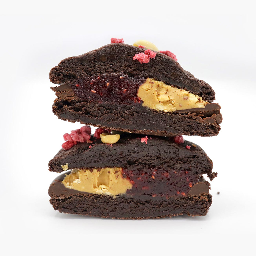 Vegan sandwich Peanut Butter and Jam Cookie