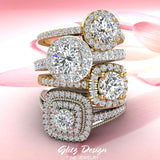 Diamond settings available in Fine Jewelry designed by Glitz Design
