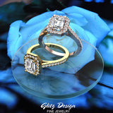 Emerald-Cut Diamond Rings and Jewelry