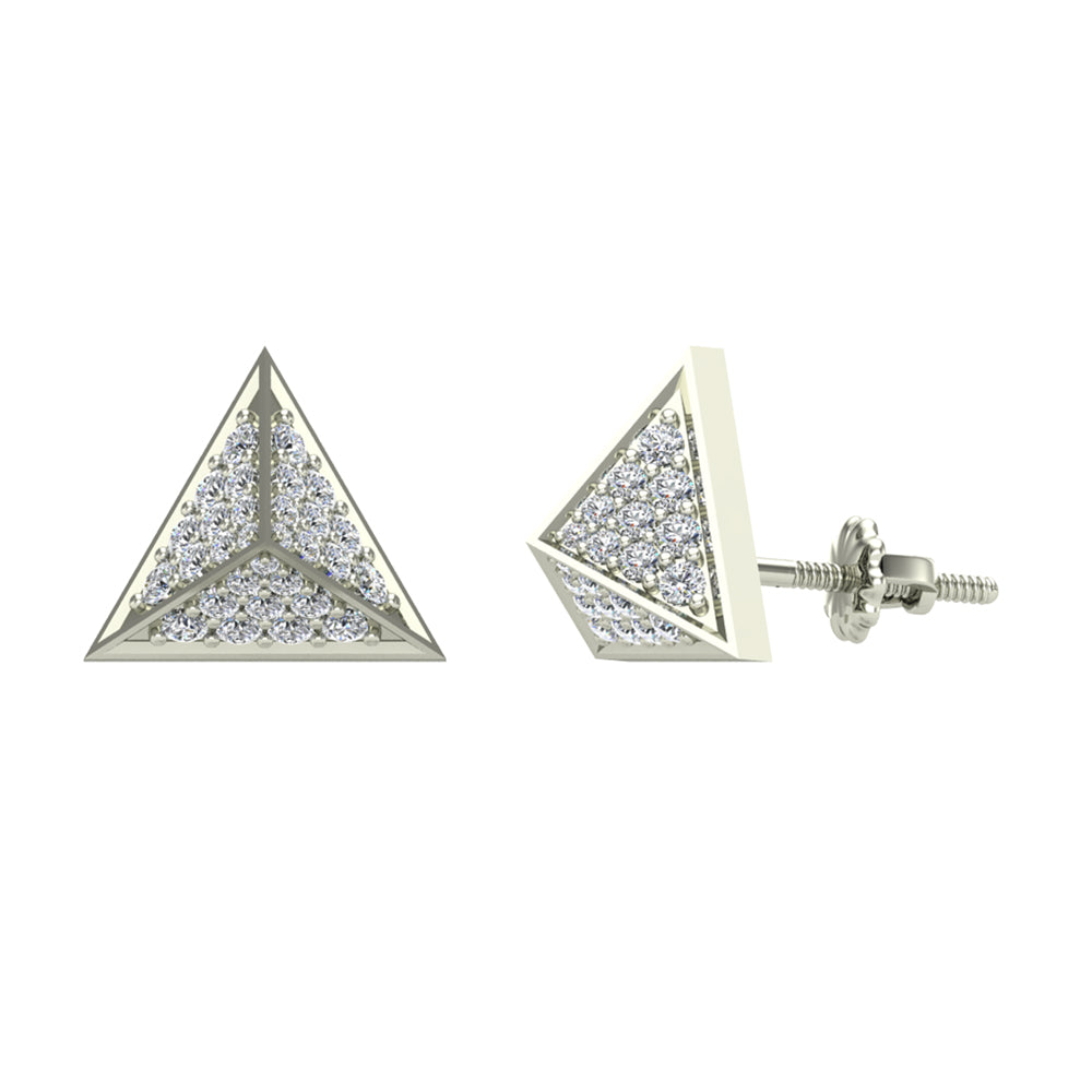Diamond Stud Earrings by Glitz Design