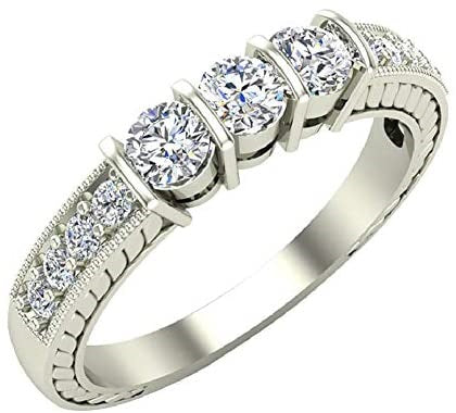 Three-stone Diamond Rings by Glitz Design