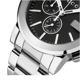 G-Chrono Black Dial Stainless Steel Men's Watch (YA101204)