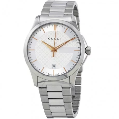 G-Timeless Silver Dial Stainless Steel Unisex Watch (YA126442)