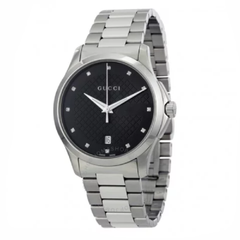 G-Timeless Black Dial Diamond Unisex Watch (YA126456)