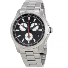 G-Timeless Chronograph Black Dial Men's Watch (YA126267)