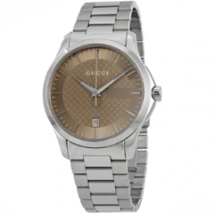 G-Timeless Brown Dial Stainless Steel Unisex Watch (YA126445)