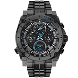 Bulova Men's 46mm Precisionist Gunmetal Gray Chronograph Watch 98B229