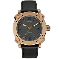 Bulova Men's 64B129 Analog Display Automatic Self Wind Black Watch