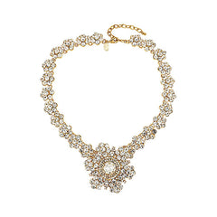 "Joan Rivers Crystal Rosette 18"" Necklace w/ Removable Brooch"