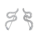 Snake style vines or Ear climber earrings 14K Gold (I,I1) - White Gold