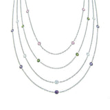 Steel by Design Set of 4 Bezel Set Necklaces