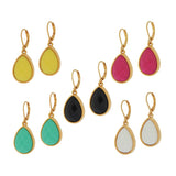 Joan Rivers Set of Five Faceted Opaque Lever Back Earrings