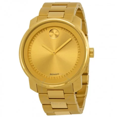 Bold Champagne Dial Yellow Gold-plated Men's Watch 3600258