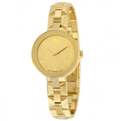 Sapphire Yellow Mirror Diamond Dial Ladies Watch 0606817