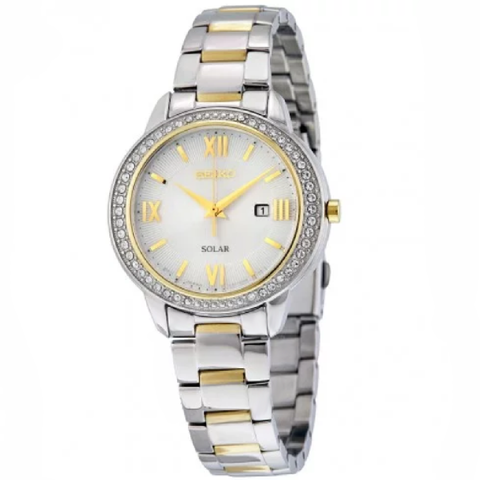 Recraft Solar Mother of Pearl Dial Two-tone ladies Watch
