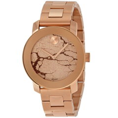 Bold Rose Gold Glitter Dial Rose Gold Ion-plated Ladies Watch 3600347