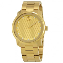 Bold Yellow Gold Diamond Dial Men's Watch 3600374