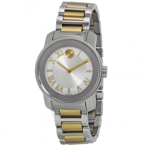 Bold Quartz Silver Dial Two-tone Ladies Watch 3600245
