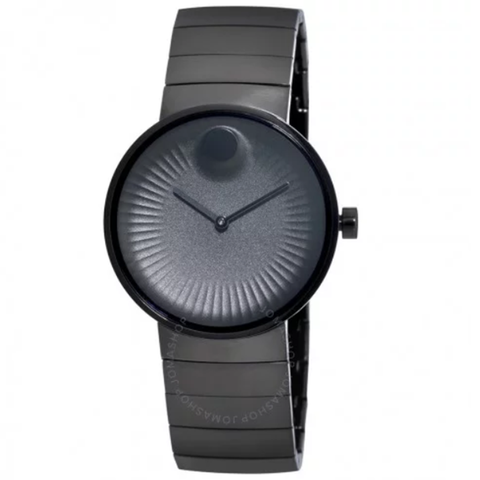 Edge Black Aluminum Dial Black Ion-plated Men's Watch 3680007