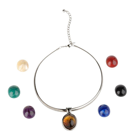 Joan Rivers 7 Color Changeable Omega Necklace Wardrobe