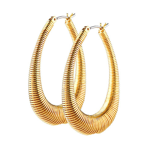 Joan Rivers Coiled Hoop Earrings