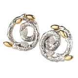 Dweck Diamonds Sterling Fortuna Swirl Earrings