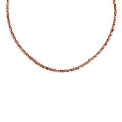 "Bronzo Italia 18"" Polished Braided Omega Necklace"