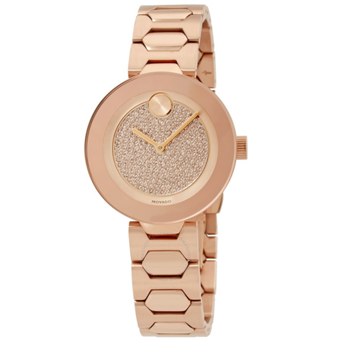 Bold Crystal Pave Dial Ladies Watch 3600493