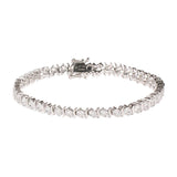 "Epiphany Platinum Clad Diamonique 7 ct tw 8"" Bracelet"