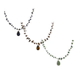 Set of 3 Woven Wire Necklaces with Colors of Bold Gemstone Chips