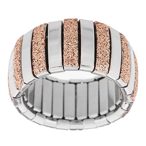 Steel by Design Stretch Glitter Ring