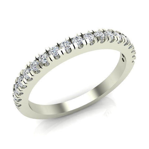 Exquisite Stacking Diamond Eternity Wedding Half Band 0.30 ctw 18K Gold (G,SI) - White Gold
