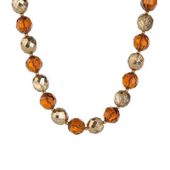 "Joan Rivers Vintage Style Firepolish Bead 36"" Necklace w/3"" Extender"