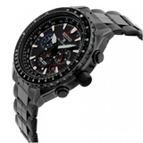 Limited Edition Black Dial Stainless Steel Men's Watch