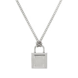 "Stainless Steel Lock Pendant with 18"" Chain"