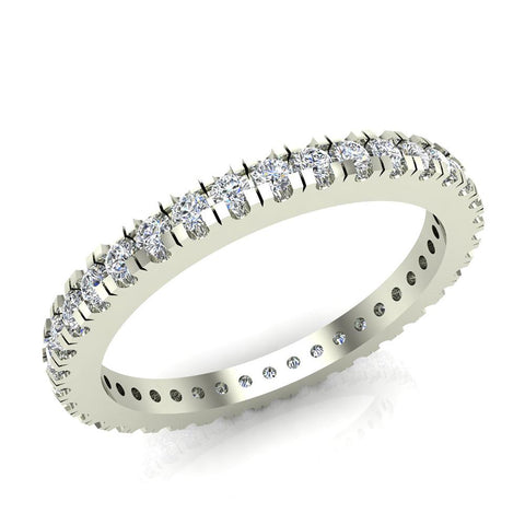 Exquisite Stacking Diamond Eternity Wedding Band 0.57 ctw 14K Gold (I,I1) - White Gold