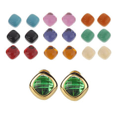 Joan Rivers Chic 10 Color Changeable Pierced or Clip Earrings