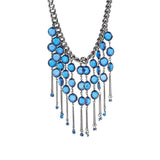 "Robert Rose Dramatic Crystal Bib 17"" Adjustable Necklace"