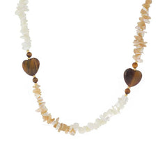 Lee Sands Tiger's-eye Heart Bead Necklace