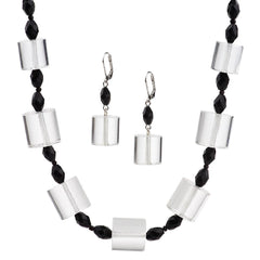 "Isaac Mizrahi Live! ""Mod"" Bead Necklace and Earring Set"
