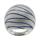"""As Is"" Arte d' Argento Sterling Diamond Finish Enamel Ring"