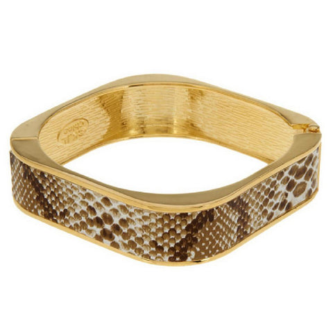 Kenneth Jay Lane's Simulated Snake Skin Bangle Bracelet