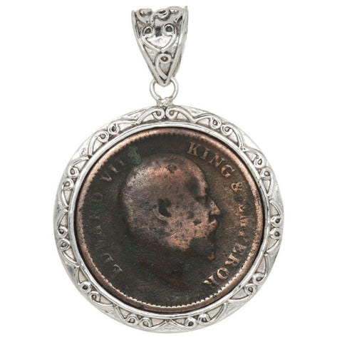 Artisan Crafted Limited Edition Sterling Ancient Coin Pendant