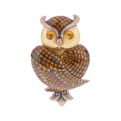 Joan Rivers Wise Eyed Owl Pin