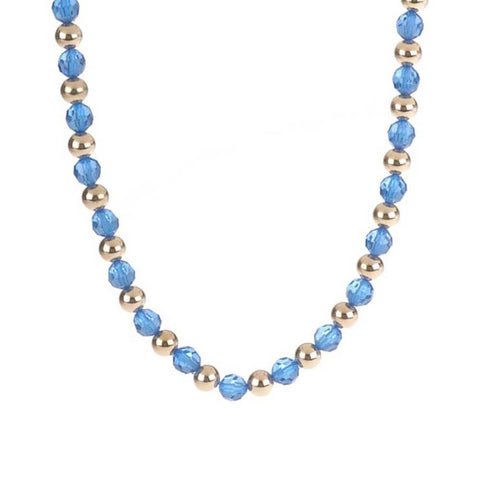 Faceted and High Polished Beaded Fashion Necklace