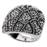 Chelsea Taylor Sterling Crystal and Beaded Design Ring