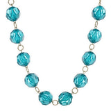 """As Is""Colorful Faceted Bead and Chain 39"" Necklace"